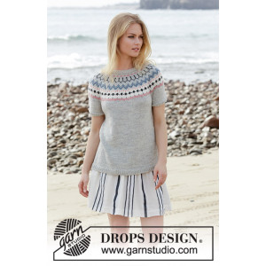 Mina by DROPS Design - Top Knitting Pattern size S - XXXL