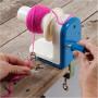 Infinity Hearts Wool Winder for Yarn Blue/White 18x9x13,5cm