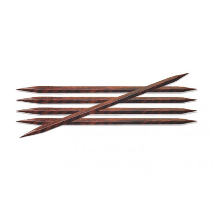 KnitPro Cubics Double Pointed Knitting Needles Wood 15cm 3 50mm / 5 9in US4