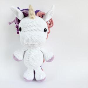 Elie Unicorn girl by UnkelDesign - Teddy Crochet Pattern 25cm