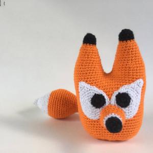 Fred the fox by UnkelDesign - Teddy Crochet Pattern 20cm