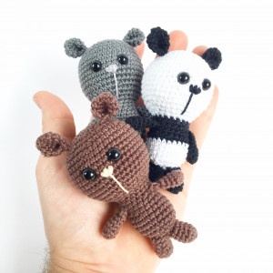 Tiny Bears by Unkeldesign - Teddy Crochet Pattern 10cm - 3 pcs
