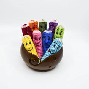 Color pencils of KreaLoui - Color pencils Crochet pattern 11cm