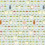 Daydreamers Cotton Fabric 110cm 273 Apples - 50cm