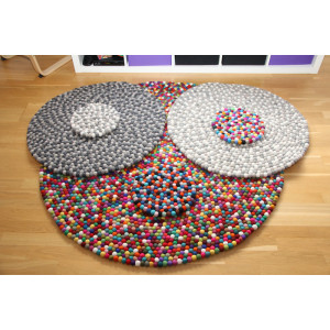 DIY Felt Ball Wool Carpet by Rito Krea - Ø 20-200 cm
