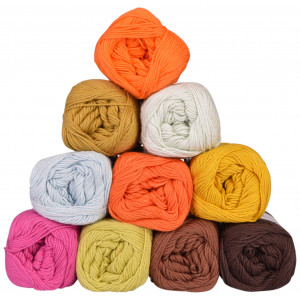 Mayflower Cotton 8/4 Junior Yarn Pack 01 Assorted Colors - 10 balls