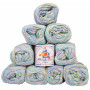 Mayflower Cotton 8/4 Junior Yarn Pack Print 1503 Frost - 10 pcs