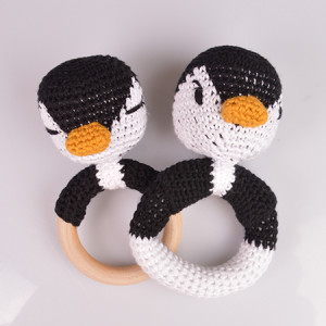 Penguin Rattles by Rito Krea - Rattle Crochet Pattern 13cm