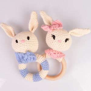 Rabbit Rattles of Rito Krea - Rattle Crochet Pattern 17cm - 2 pcs
