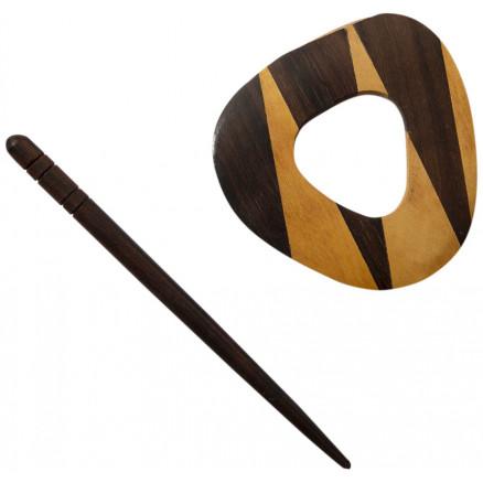 Shawl Pin Wood Triangle 75x5cm 1 Pcs