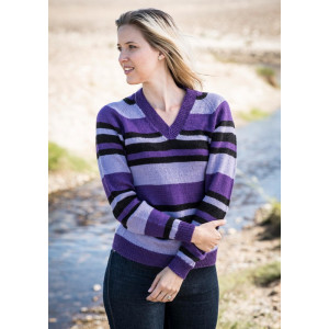 Mayflower Striped Shirt with V-Neck - Sweater Pattern Size S - XXXL