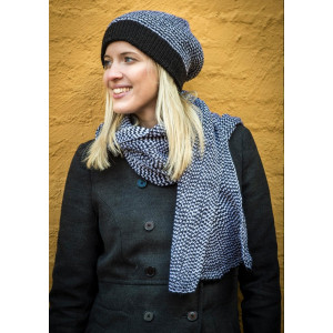 Mayflower Two-colored Hat and Scarf - Hat and Scarf Pattern Onesize