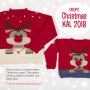 Children Christmas Jumper KAL 2018 by DROPS Design Alaska and Alpaca Bouclé Size 2 - 12 years