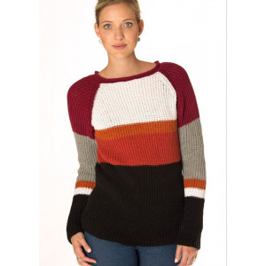 Mayflower Ribbed Sweater in Six Colours - Knitted Sweater Pattern Size S - XXXL