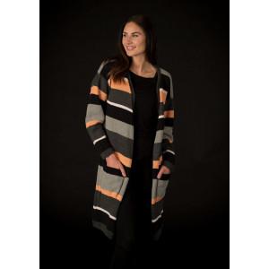 Mayflower Striped Jacket - Knitted Jacket Pattern Size S - XXXL