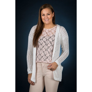 Mayflower Long Cardigan - Knitted Cardigan Pattern Size S - XXXL