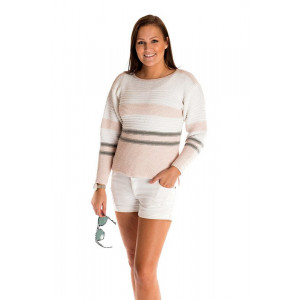 Mayflower Blouse with Stripes - Knitted Blouse Pattern Size S - XXXL