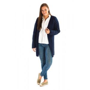 Mayflower Jacket in Rib - Knitted Jacket Pattern Size S - XXXL