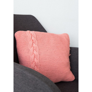 Mayflower Pillow with braided Cable - Pillow Knitting Pattern