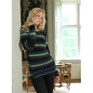 Mayflower Sweater with Lace and Zippers - Sweater Knitting Pattern Size S - XXXL