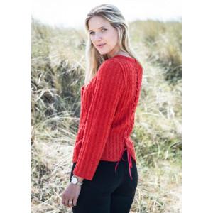 Mayflower Blouse with Ribbon on the Back - Blouse Knitting Pattern Size S - XXXL