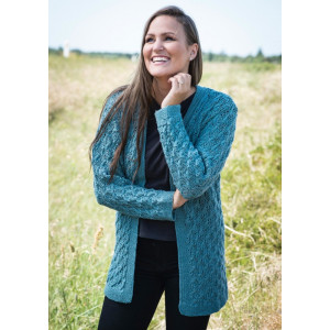 Mayflower Cardigan with Lace and Cable - Cardigan Knitting Pattern Size S/M - XXL/XXXL
