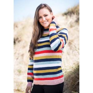 Mayflower Oversize Sweater with Stripes - Sweater Knitting Pattern Size S/M - XXL/XXXL