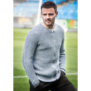 Mayflower Men's Zip Cardigan - Cardigan Knitting Pattern Size S - XXXL