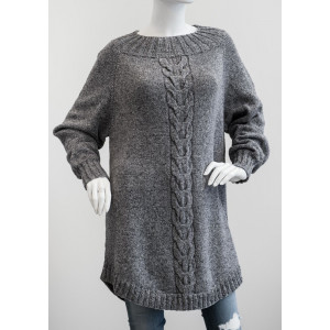 Mayflower Poncho Sweater with Cable - Sweater Knitting Pattern Size S - XXXL