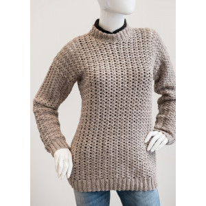 Mayflower Sweater with Knitted Edges - Sweater Crochet Pattern Size S - XXXL