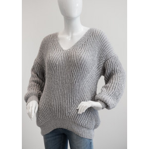 Mayflower Brioche Sweater - Sweater Knitting Pattern Size S - XXXL