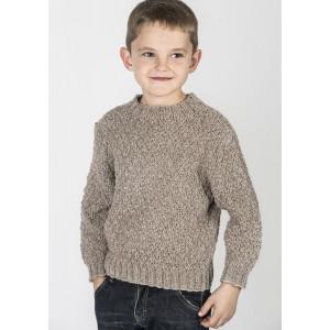 Mayflower Boy's Sweater in Heathered Look - Sweater Knitting Pattern Size 2 - 10 years