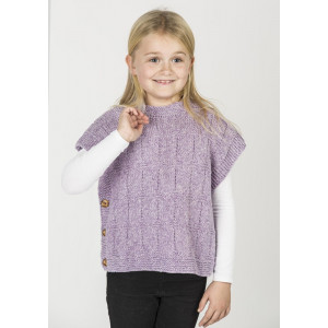 Mayflower Poncho-vest in Heathered Look - Poncho Knitting Pattern Size 2 - 10 years