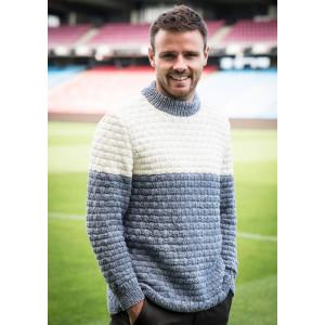 Mayflower Two-Coloured Men's Sweater in Waffelstitch - Sweater Knitting Pattern Size S - XXXL