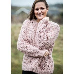 Mayflower Sweater with Lace Pattern - Sweater Knitting Pattern Size S - XXXL