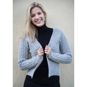 Mayflower Heathered Cardigan - Cardigan Knitting Pattern Size S - XXXL