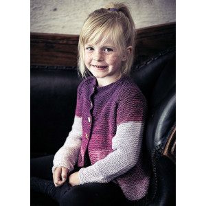 Mayflower Multicoloured Girl Cardigan with Buttons - Cardigan Knitting Pattern Size 4/6 - 8/10 years