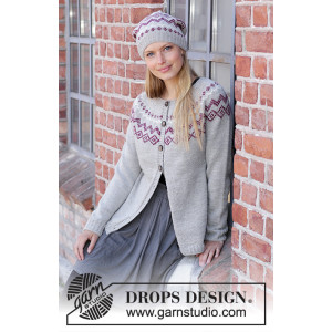 Old Millby DROPS Design - Knitted Jacket Pattern Sizes S - XXXL