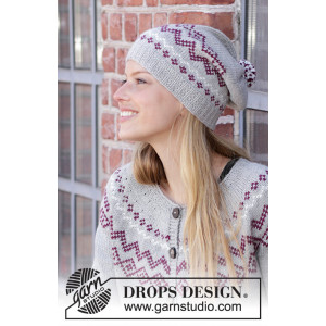 Old Millby DROPS Design - Knitted Hat Pattern Sizes S/M - L/XL