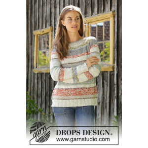 Fading Sunsetby DROPS Design - Knitted Jumper Pattern Sizes S - XXXL