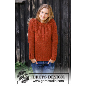 Clemence by DROPS Design - Knitted Jumper Pattern Sizes S - XXXL