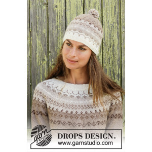 Talvik by DROPS Design - Knitted Hat Pattern Sizes S/M - L/XL