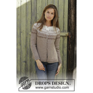 Talvik Jacket by DROPS Design - Knitted Jacket Pattern Sizes S - XXXL