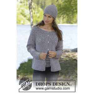 Agnes by DROPS Design - Knitted Jacket Pattern Sizes S - XXXL