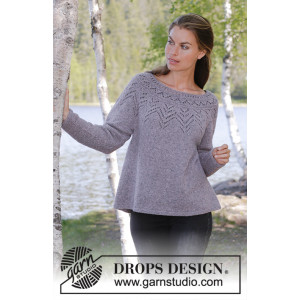 Agnes Sweater by DROPS Design - Knitted Jumper Pattern Sizes S - XXXL