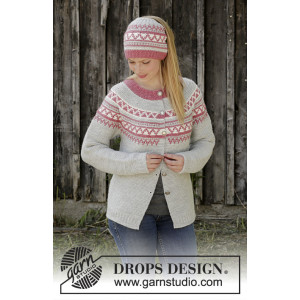 Hint of Heather by DROPS Design - Knitted Jacket Pattern Sizes S - XXXL