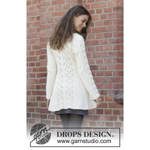 Ice Dancer by DROPS Design - Knitted Jacket Pattern Sizes S - XXXL