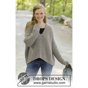 Wednesday Morning by DROPS Design - Knitted Jumper Pattern Sizes S - XXXL