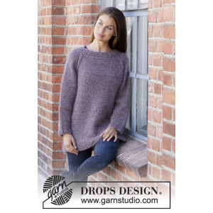 Simple Mind by DROPS Design - Knitted Jumper Pattern Sizes S - XXXL