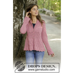 Lady Angelika Jacket by DROPS Design - Knitted Jacket Pattern Sizes S - XXXL